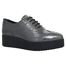 Buy Carvela Leslie Flatform Brogues, Gunmetal Online at johnlewis.com