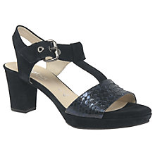 Buy Gabor Clover Wide Fit Block Heeled Sandals Online at johnlewis.com