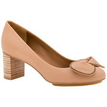 Buy See by Chloé Clara Bow Block Heeled Court Shoes, Pink Online at johnlewis.com