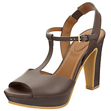 Buy See by Chloé Alex T-Bar Sandals, Brown Online at johnlewis.com