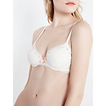 Buy AND/OR Carina Plunge Bra, Cream Online at johnlewis.com
