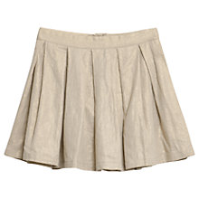 Buy Wheat Girls' Dagny Glitter Woven Skirt, Gold Online at johnlewis.com
