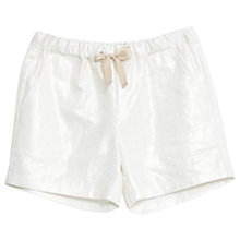 Buy Wheat Girls' Serine Shorts, White Online at johnlewis.com