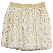 Buy Wheat Disney Girls' Belle Tulle Skirt, Ivory/Gold Online at johnlewis.com