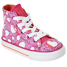 Buy Converse Children's Hi Top Valentine Heart Shoes, Pink/Multi Online at johnlewis.com