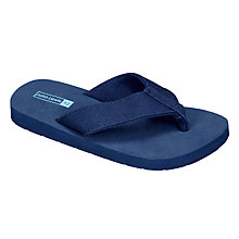 Buy John Lewis Children's Plain Canvas Flip Flops Online at johnlewis.com