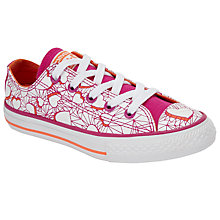 Buy Converse Children's Low Top Valentine Heart Shoes, Pink/Multi Online at johnlewis.com