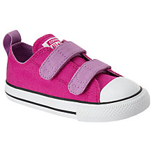 Buy Converse Children's All Stars 2V Riptape Ox Trainers, Pink/Multi Online at johnlewis.com