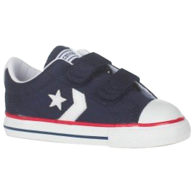 Converse Children's Star Player 2V Shoes, Navy/White