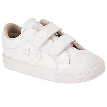 Buy Converse Children's Star Player 2V Double Riptape Shoes, White Online at johnlewis.com