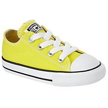 Buy Converse Children's Chuck Taylor All Star Low Top Canvas Shoes, Yellow Online at johnlewis.com