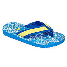 Buy John Lewis Children's Shark Flip Flops, Blue Online at johnlewis.com