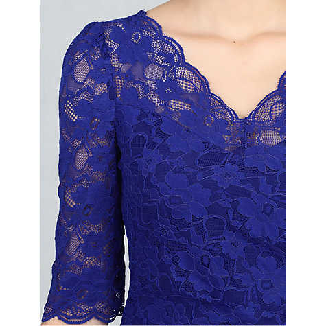 Buy Jolie Moi Three-Quarter Sleeve Scalloped Lace Dress Online at johnlewis.com