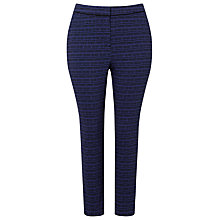 Buy Studio 8 Andie Geo Print Trousers, Cobalt/Black Online at johnlewis.com