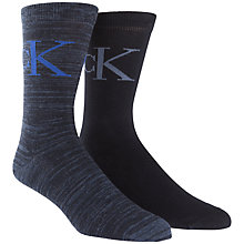 Buy Calvin Klein Logo Socks, Pack of 2, Navy Online at johnlewis.com