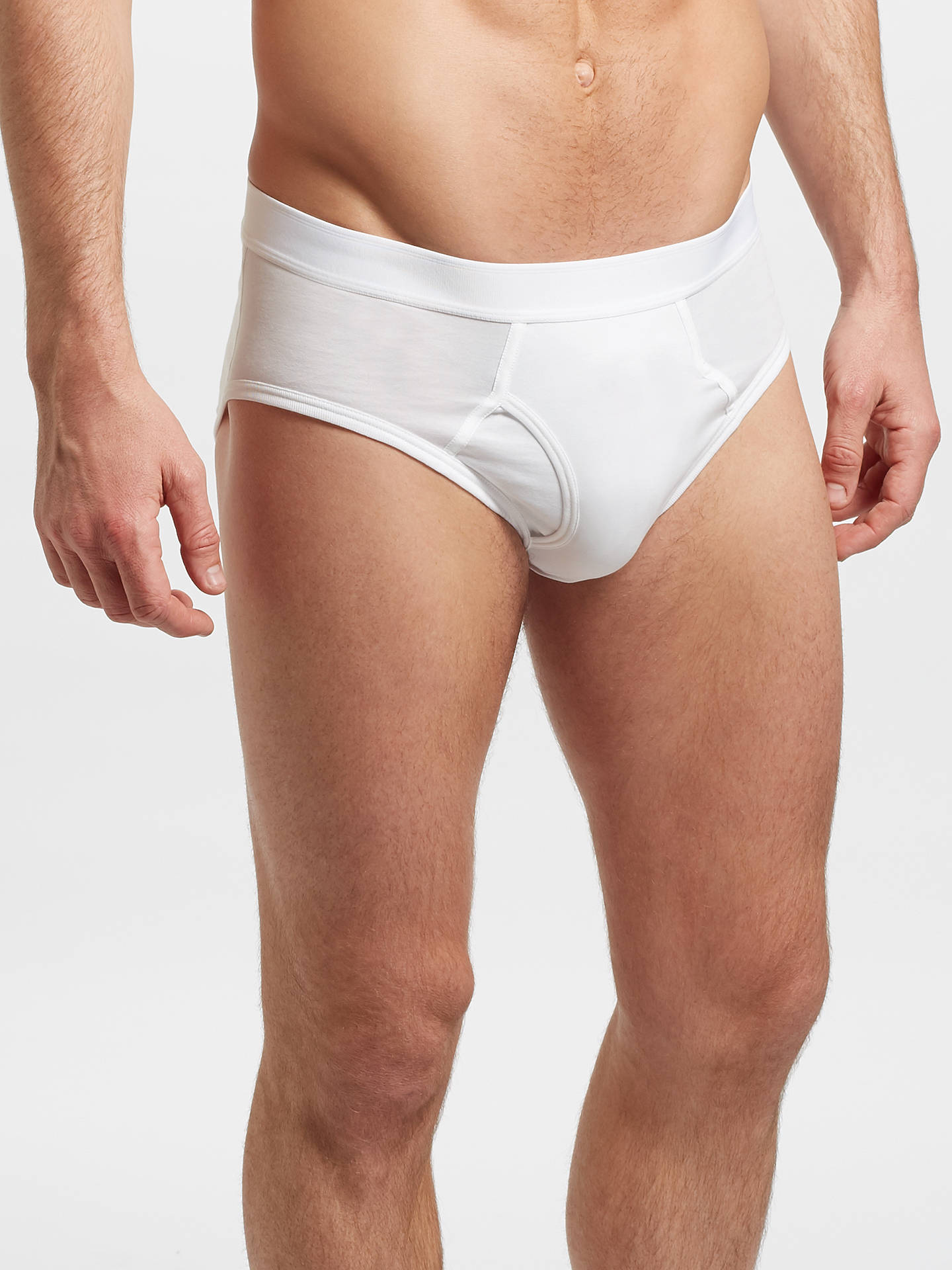 16546c645640 Buy Sunspel Superfine Cotton Briefs, White, M Online at johnlewis.com ...