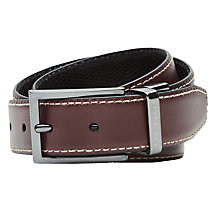 Buy Ted Baker Lizard Reversible Leather Belt, Oxblood Online at johnlewis.com