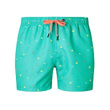 Buy Bjorn Borg Beach Print Swim Shorts, Blue Online at johnlewis.com