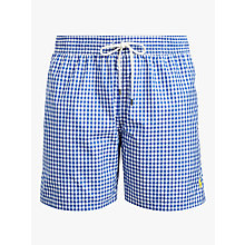 Buy Polo Ralph Lauren Gingham Swim Shorts, Blue Online at johnlewis.com