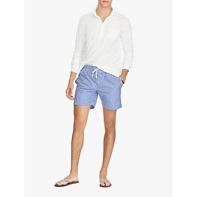 Polo Ralph Lauren Gingham Swim Shorts, Blue