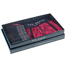 Buy Ted Baker Boxlove Flamingo Boxer and Sock Gift Set, Pink/Black Online at johnlewis.com
