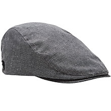 Buy Ted Baker Pushda Textured Flat Cap, Grey Online at johnlewis.com