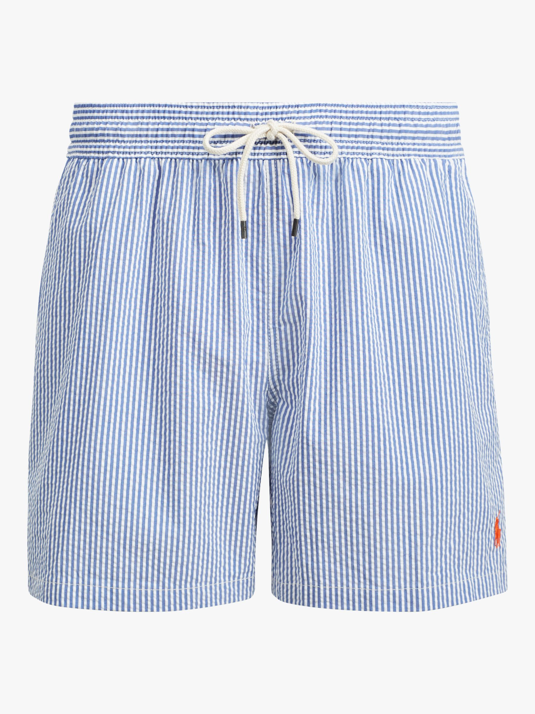Ralph Lauren Polo Ralph Lauren Seersucker Stripe Swim Shorts, Blue