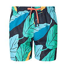 Buy Bjorn Borg Leaf Swim Shorts, Blue Online at johnlewis.com