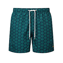 Buy Gandys for John Lewis Tile Print Swim Shorts, Navy Online at johnlewis.com
