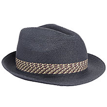 Buy Ted Baker Hatz Contrast Band Trilby Online at johnlewis.com