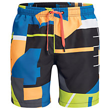 Buy Bjorn Borg Collage Palm Print Swim Shorts, Blue Online at johnlewis.com