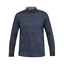 Buy Ted Baker Hartbop Geo Print Cotton Shirt Online at johnlewis.com