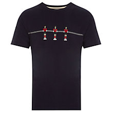 Buy HYMN Fussball Table Football Print T-Shirt, Navy Online at johnlewis.com