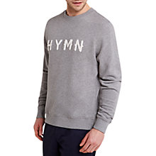 Buy HYMN Whittle Logo Flocked Sweatshirt Online at johnlewis.com