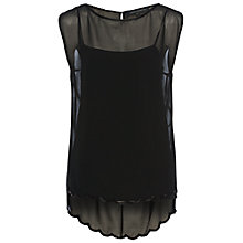 Buy French Connection Theo Sparkle Top, Black Online at johnlewis.com