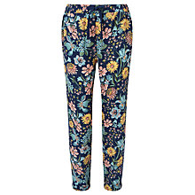 Buy John Lewis Children's Floral Trousers, Blue Online at johnlewis.com