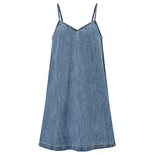 Buy John Lewis Children's Denim Pinafore Dress, Light Blue Online at johnlewis.com
