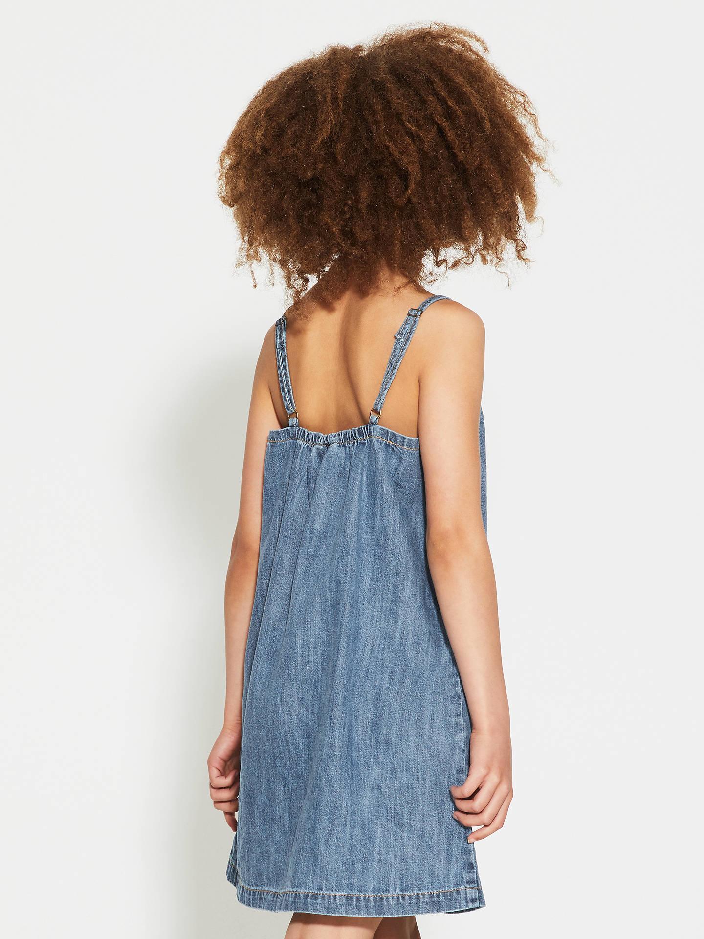 8a251747039b ... Buy John Lewis Children's Denim Pinafore Dress, Light Blue, 8 years  Online at johnlewis ...