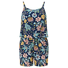 Buy John Lewis Children's Floral Playsuit, Blue Online at johnlewis.com