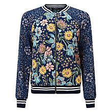 Buy John Lewis Children's Floral Bomber Jacket, Blue Online at johnlewis.com