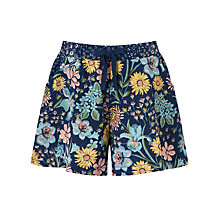 Buy John Lewis Children's Floral Shorts, Blue Online at johnlewis.com
