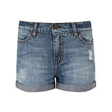 Buy John Lewis Children's Denim Shorts, Dark Blue Online at johnlewis.com