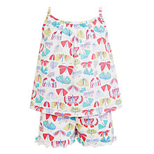 Buy John Lewis Children's Butterfly Swing Short Pyjamas, Lilac Online at johnlewis.com