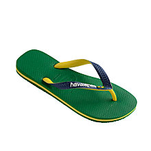 Buy Havaianas Brasil Mix Flip Flops, Green Online at johnlewis.com