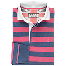 Buy Thomas Pink Fielding Stripe Cotton Rugby Shirt, Deep Pink/Blue Online at johnlewis.com