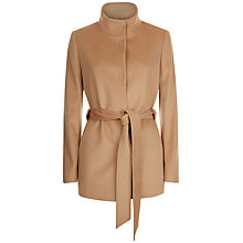 Buy Jaeger Wool Funnel Neck Coat, Camel Online at johnlewis.com