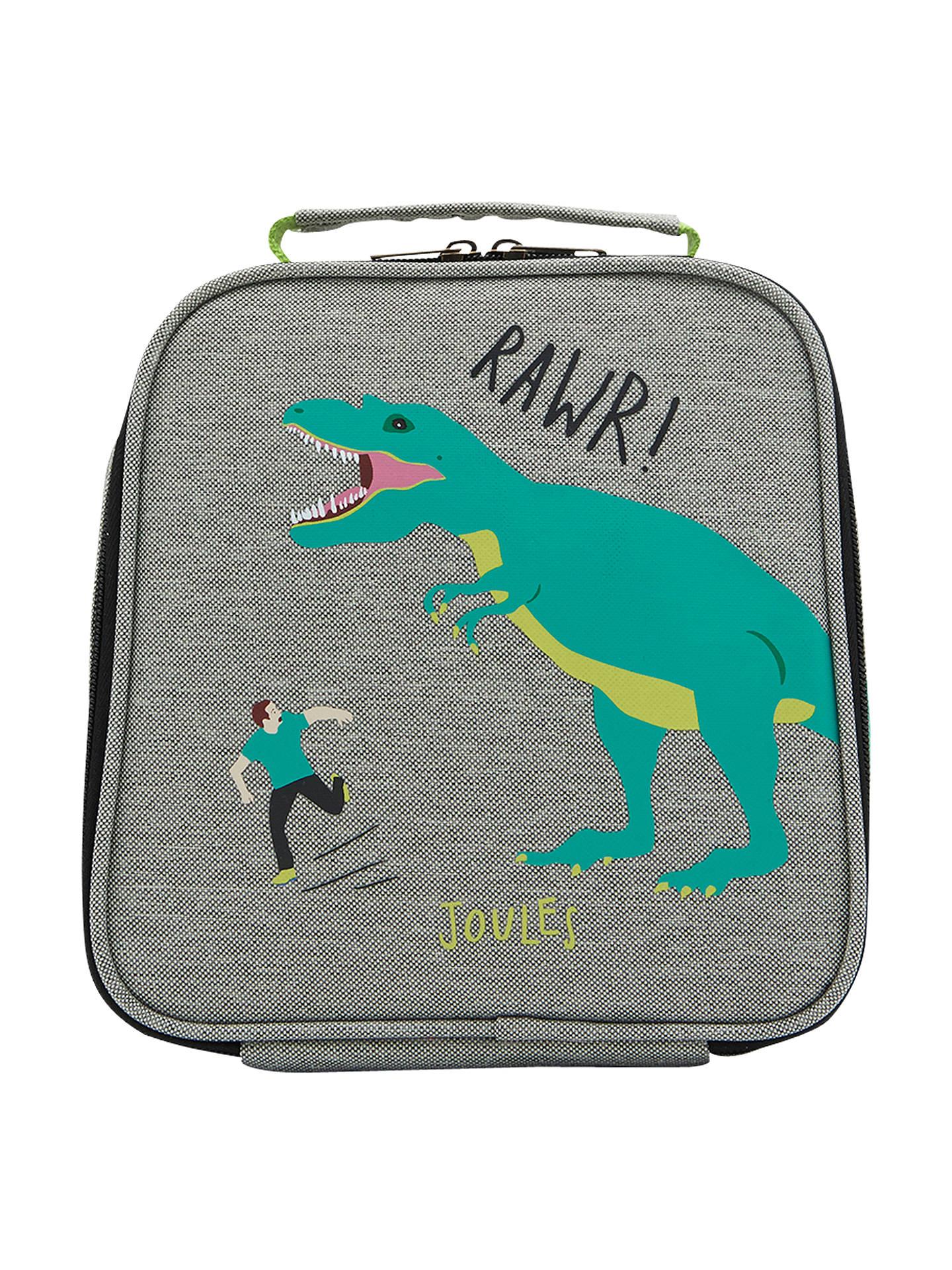 e30419337a Buy Little Joule Children's Dinosaur Print Munch Lunch Box Bag, One size,  Grey/ ...