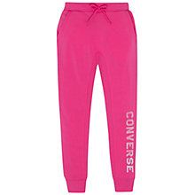 Buy Converse Girls' Rib Panel Joggers, Pink Online at johnlewis.com