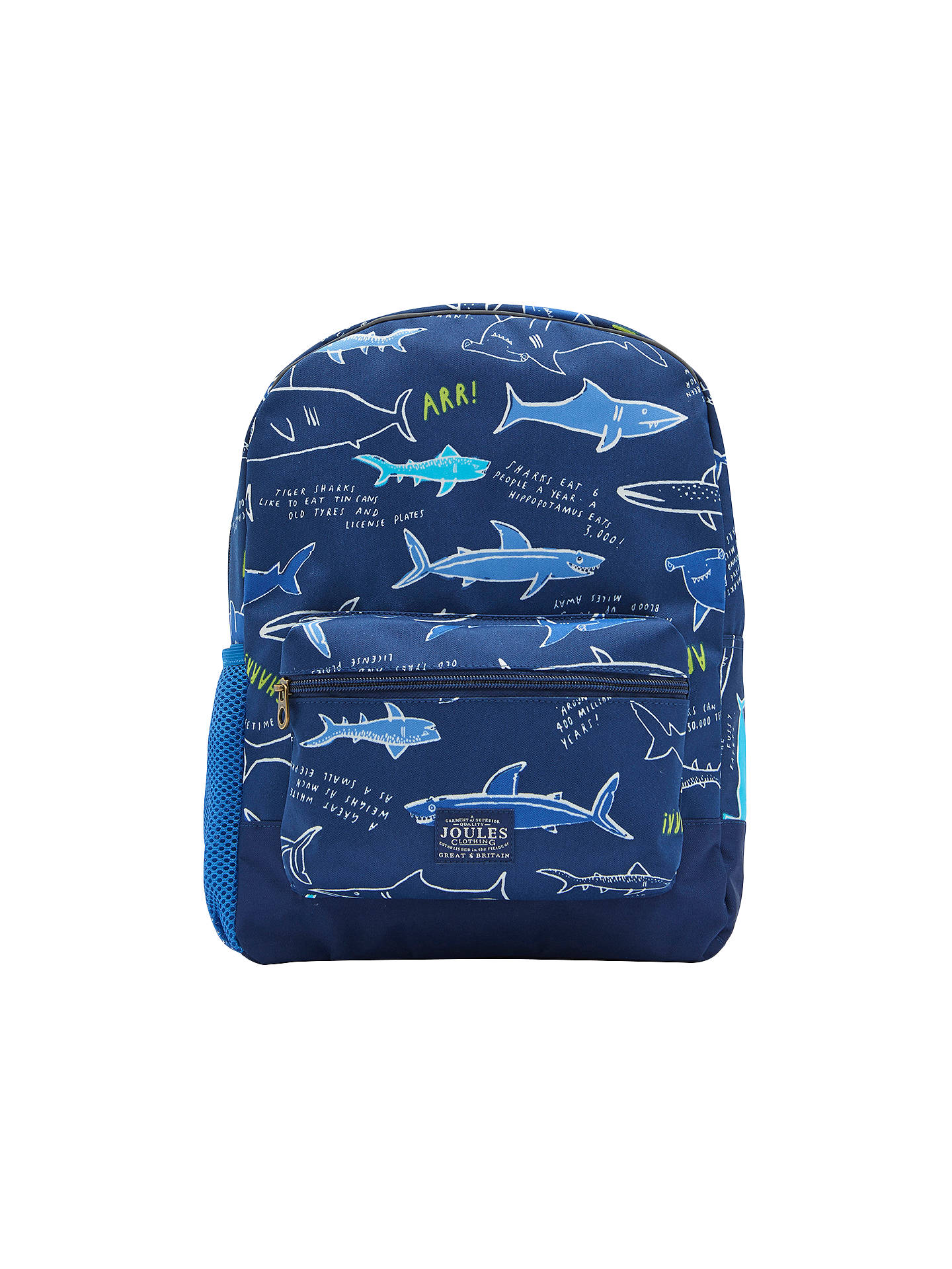 f46453b021b5 BuyLittle Joule Children s Shark Facts Patch Rucksack