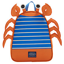 Buy Little Joule Children's Crab Buddie Bag Rucksack, One size, Orange/Multi Online at johnlewis.com